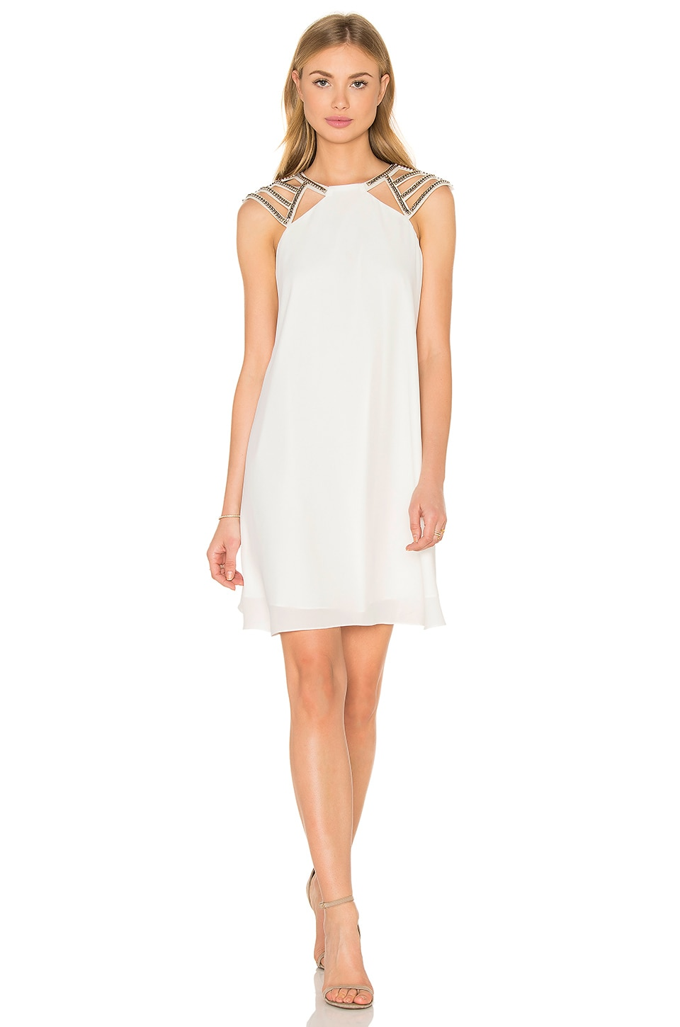 Lumier Shine On Shift Dress in White