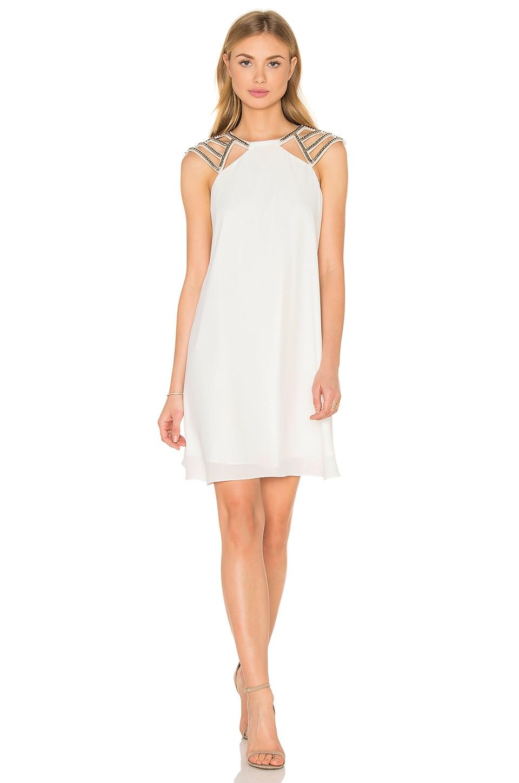 Lumier Shine On Shift Dress in White