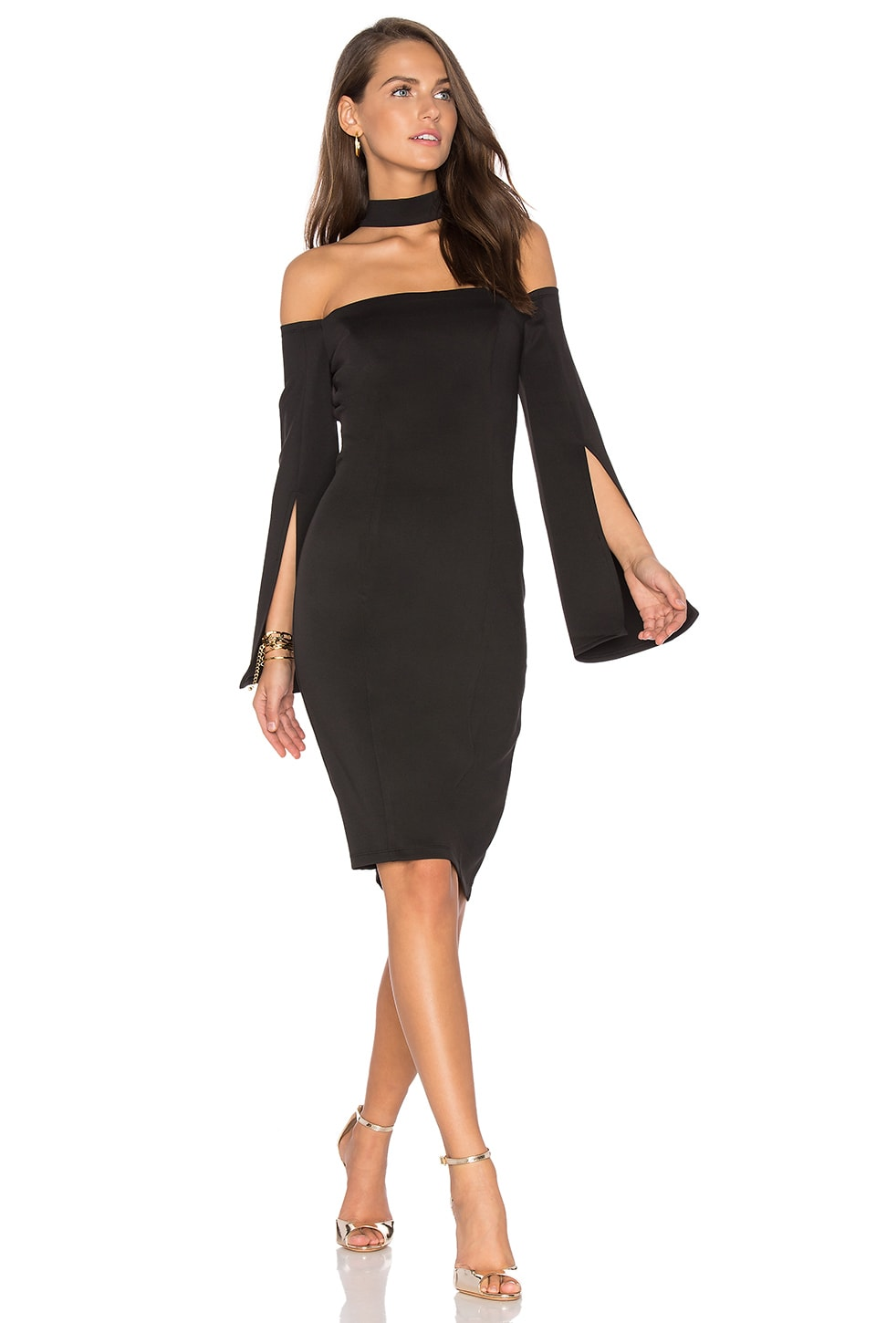 Keep Control Long Sleeve Mini Dress by Lumier