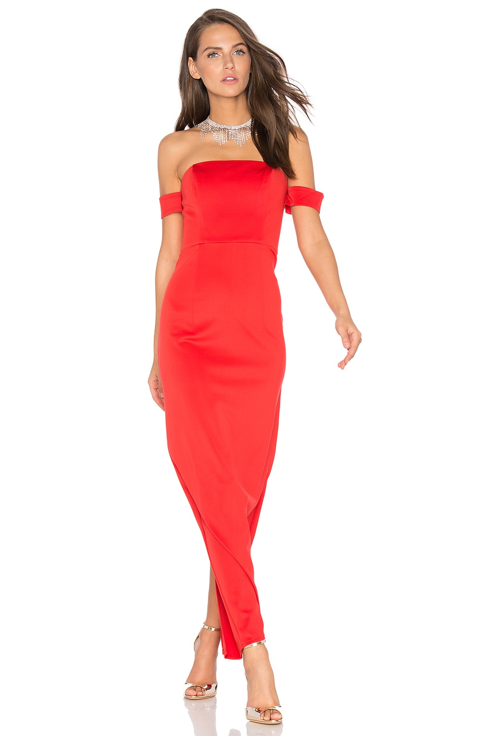 Lumier Keep Control Maxi Dress in Red
