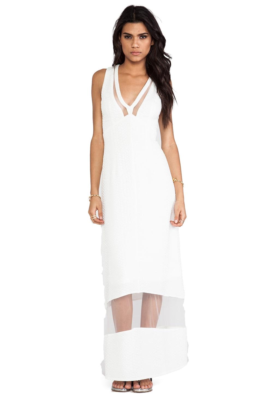 Lumier Sheer Genius Maxi Dress in White