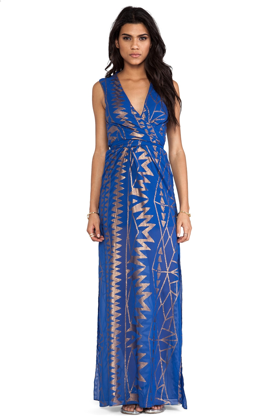 Lumier Atlantic Prism Sequin Maxi in Cobalt