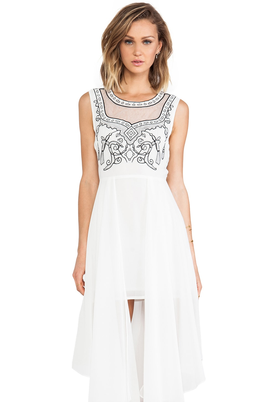 Lumier Always Be Mine Mini Dress in White & Black