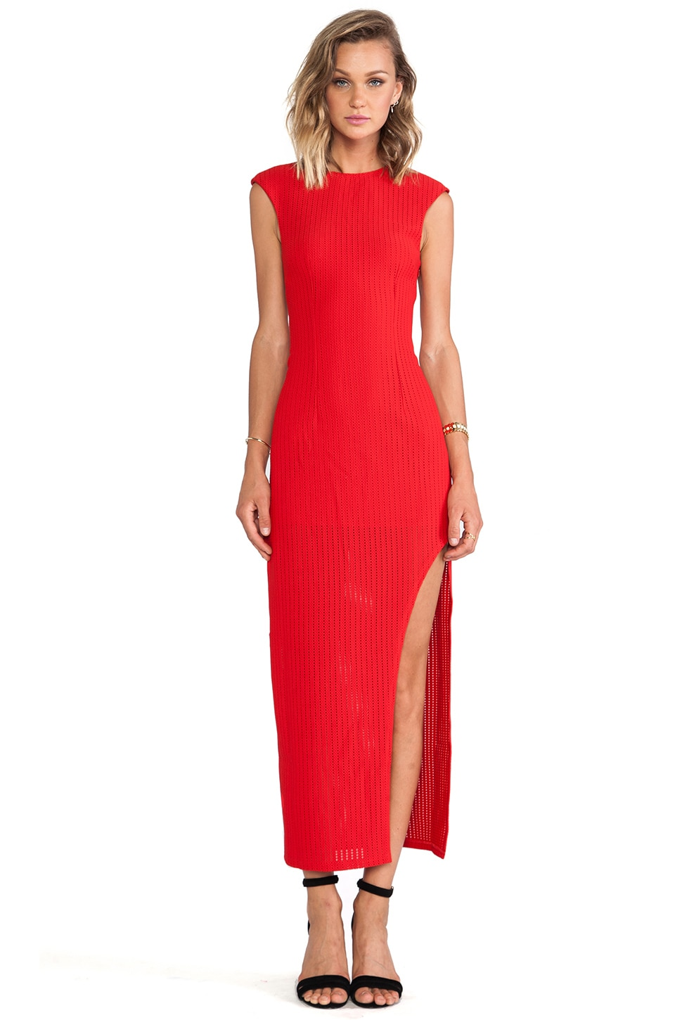Lumier Web of Life Maxi Dress in Red