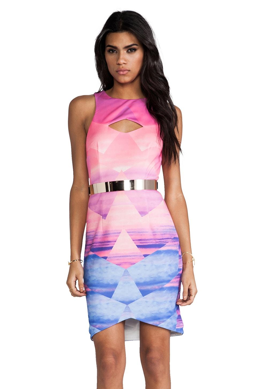 Lumier Lost In Paradise Mini Dress in Pink Beach Print