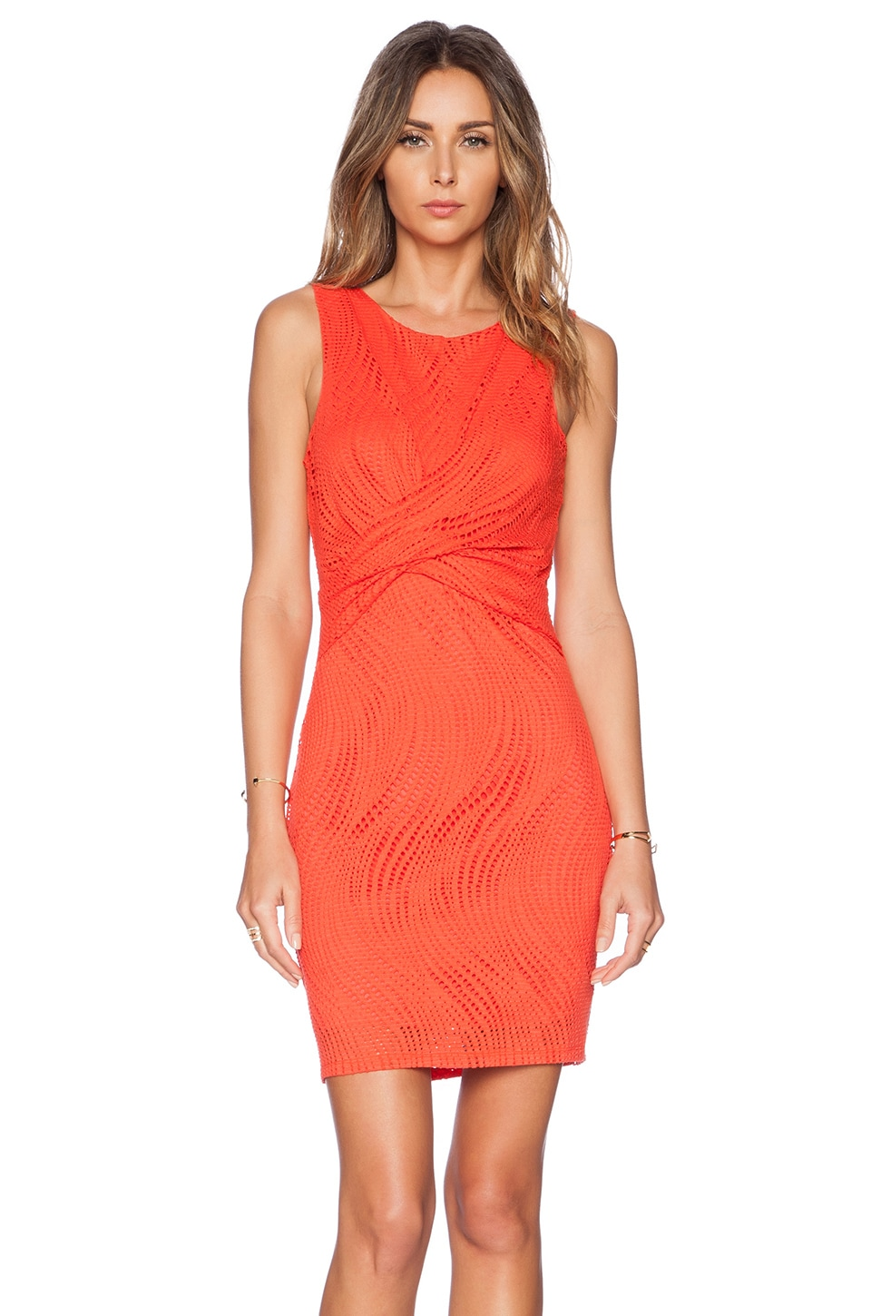 Lumier Cut It Out Mini Dress in Red