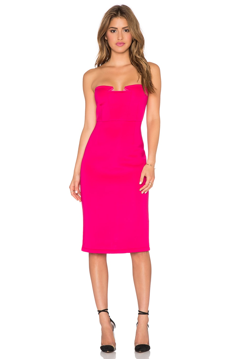 Hot Pink Strapless Dresses Cocktail Dresses 2016
