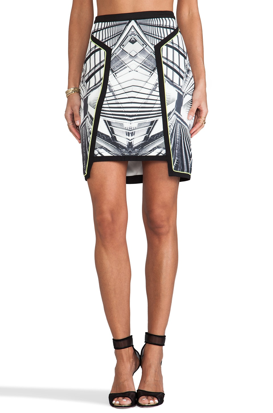 Lumier Next Dimension Skirt in Grey Print