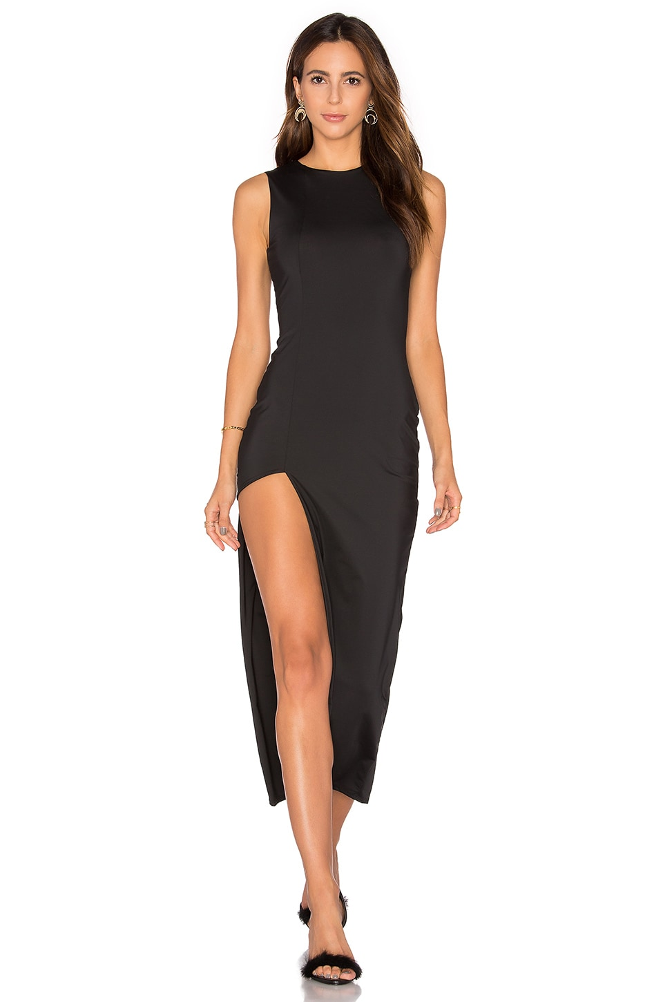 Lurelly Asymmetric Dress in Black