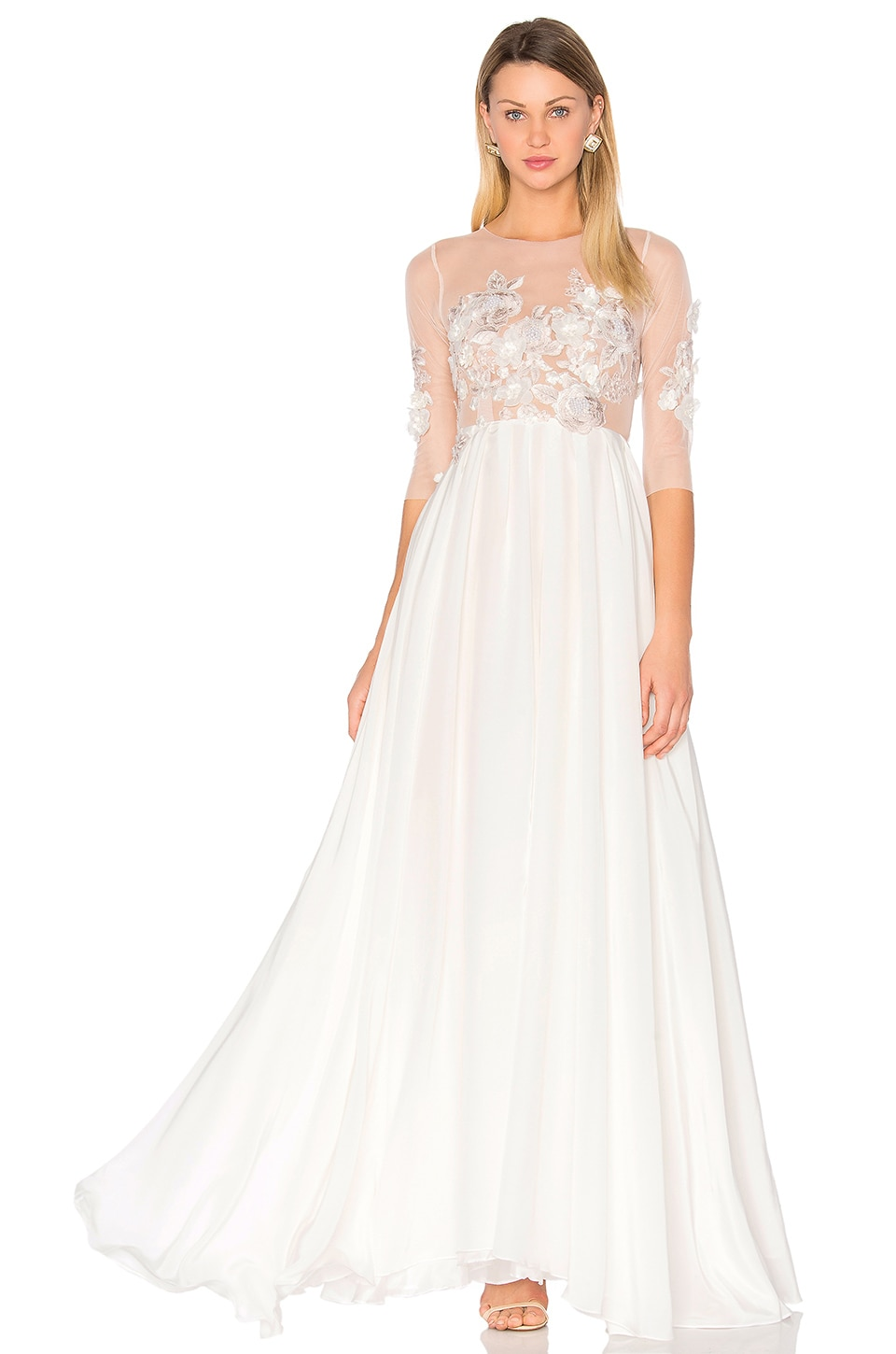 Lurelly Celine Gown in Off White