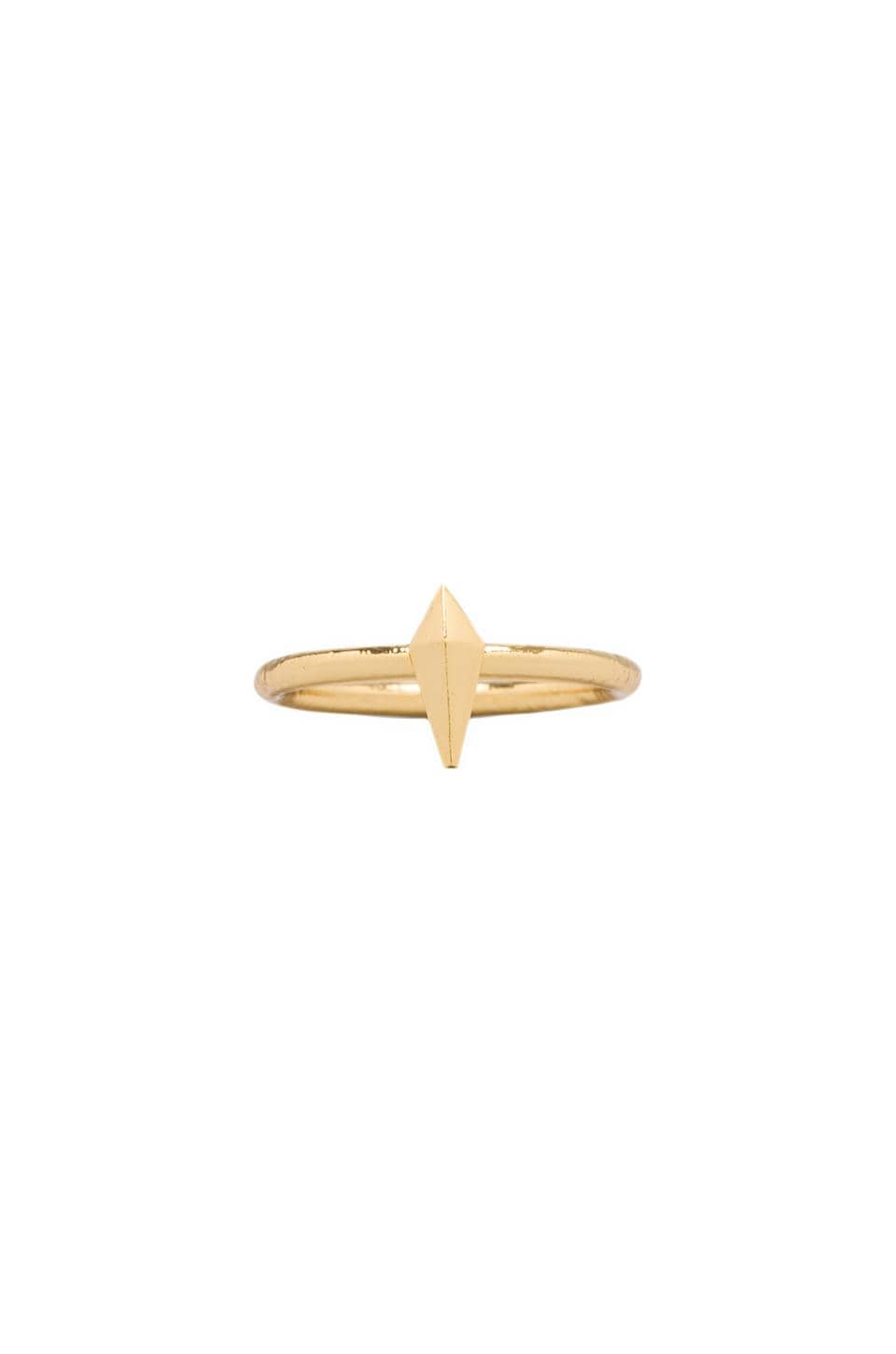 Luv AJ The Mini Spike Ring in Gold