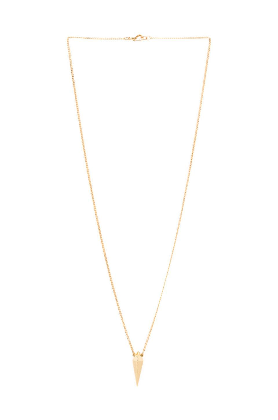 Luv AJ The Spike Charm Necklace in Gold
