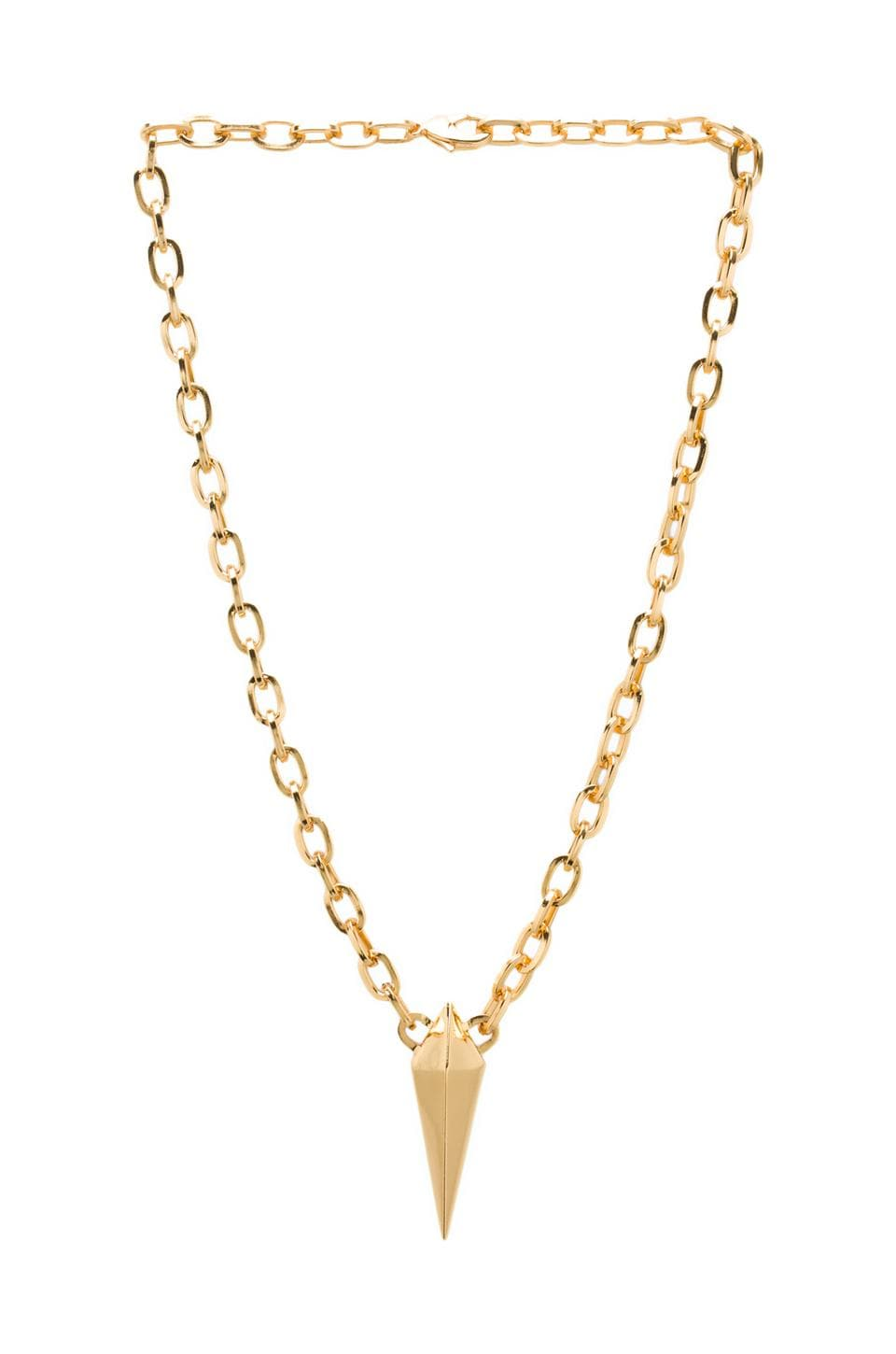 Luv AJ The Single Spike Pendant Necklace in Gold