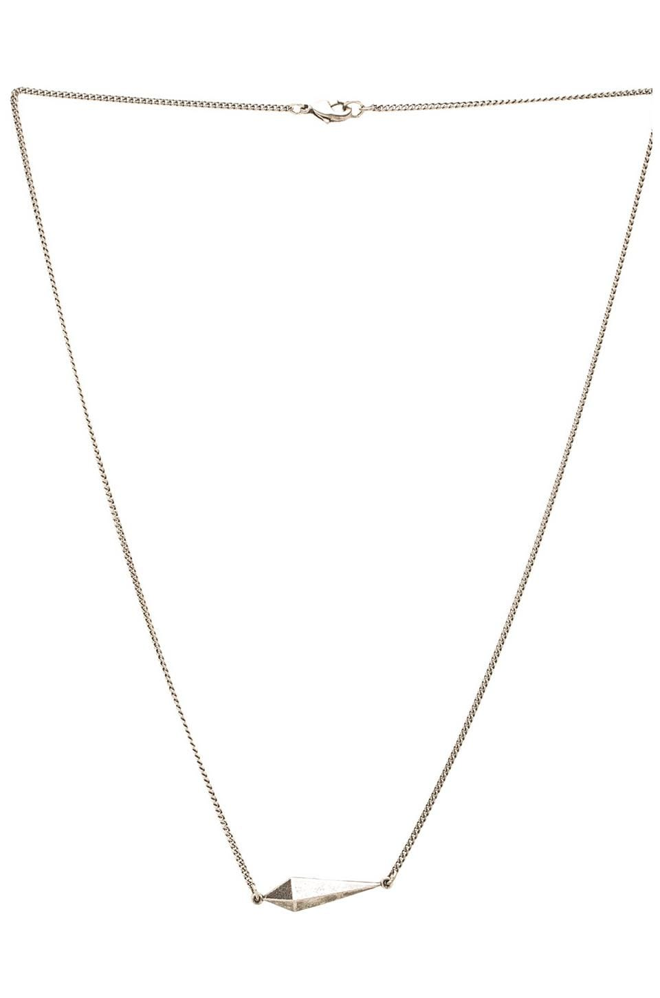 Luv AJ The Tilted Spike Charm Necklace in Antique Nickel