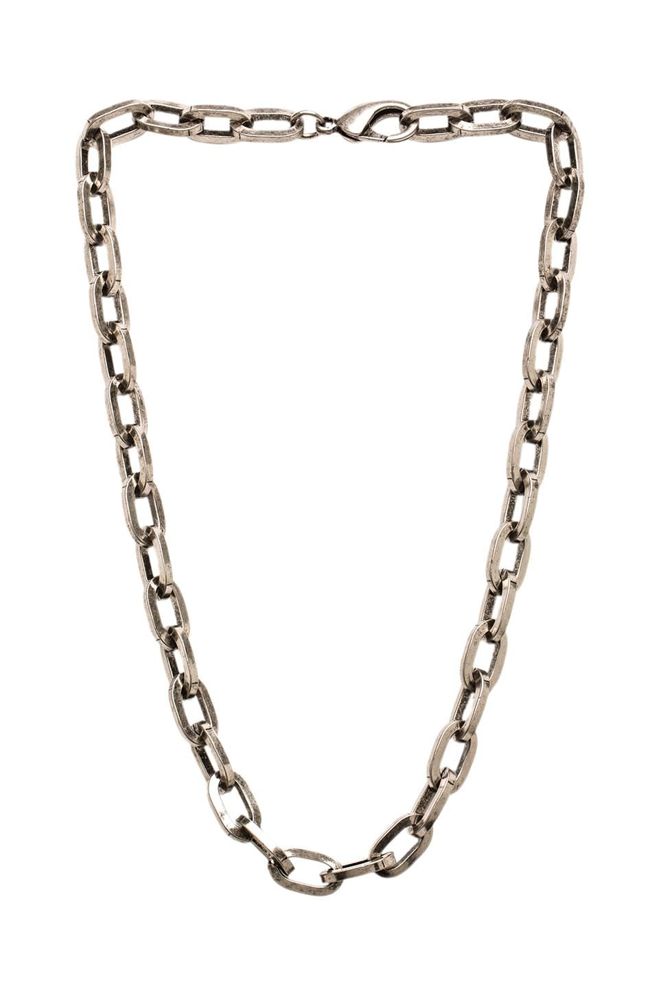 Luv AJ The Link Necklace in Antique Nickel