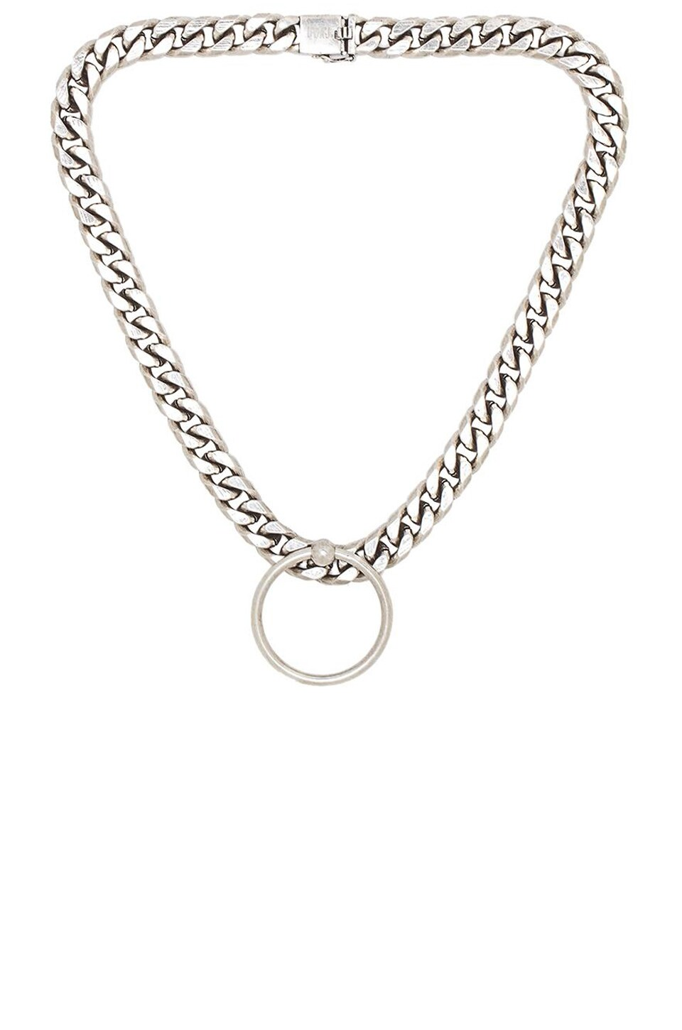 Luv AJ Ring of Fire Statement Necklace in Silver Ox