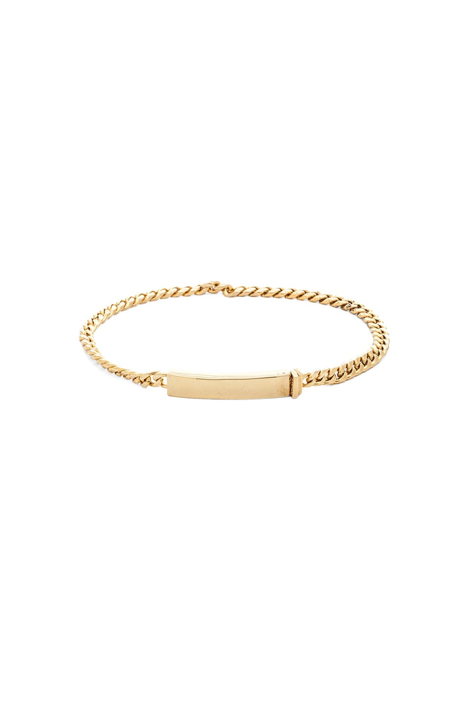 Luv AJ Convertible ID Bracelet in Antique Gold