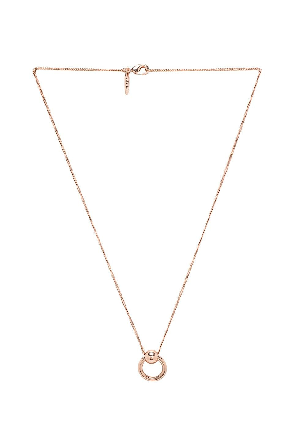 Luv AJ Ring of Fire Charm Necklace in Rose Gold