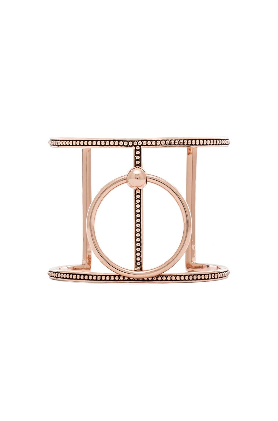 Luv AJ Ring of Fire T-Bar Cuff In Rose Gold