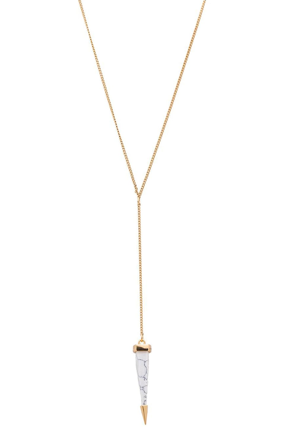 Luv AJ The Marble Drop Rosary Necklace in Gold