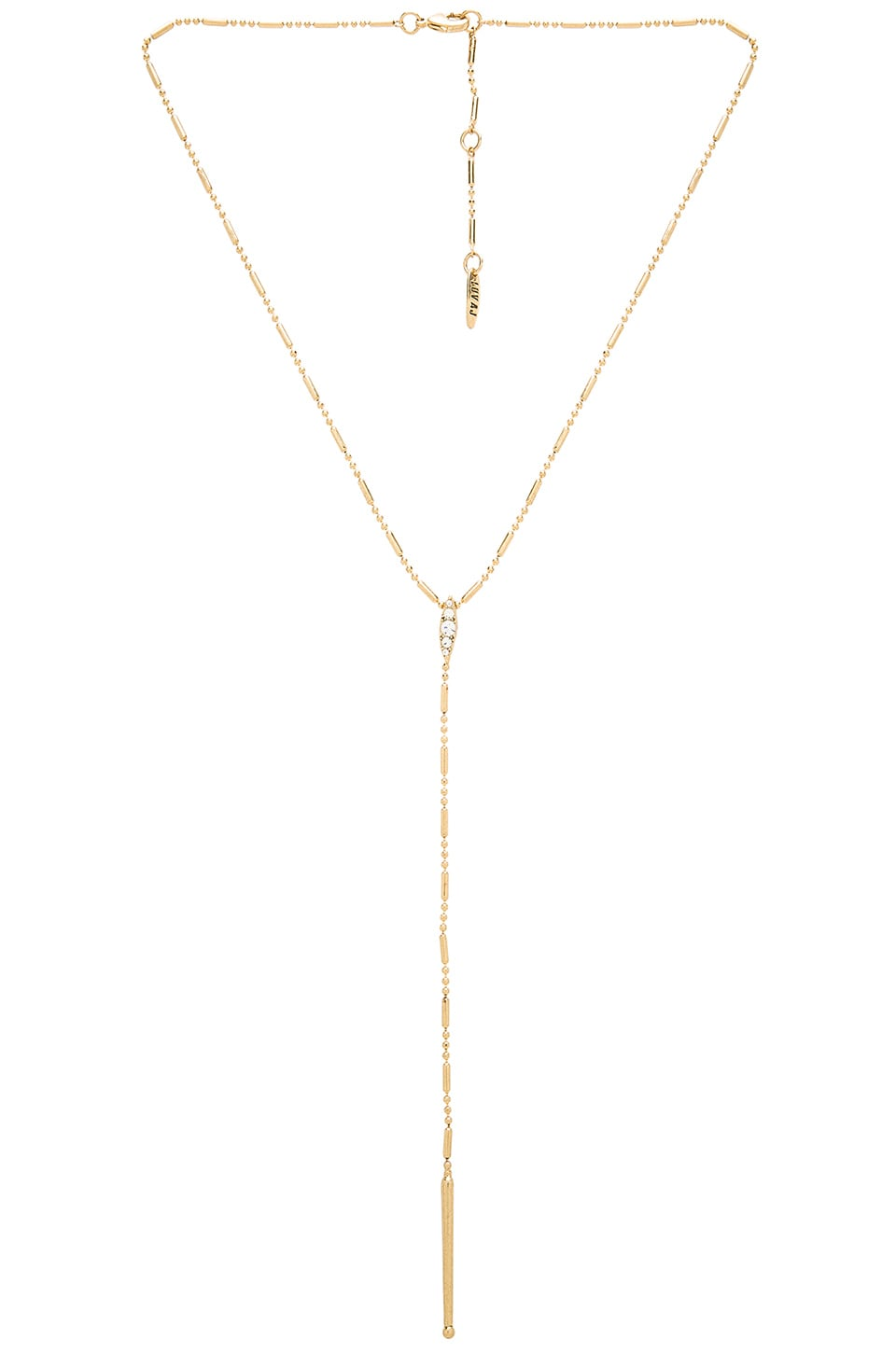 Luv AJ The Pave Marquise Rosary Necklace in Antique Gold