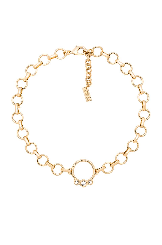 0c320dfae77f1 Luv AJ The Hex Hoop Choker in Antique Gold | REVOLVE
