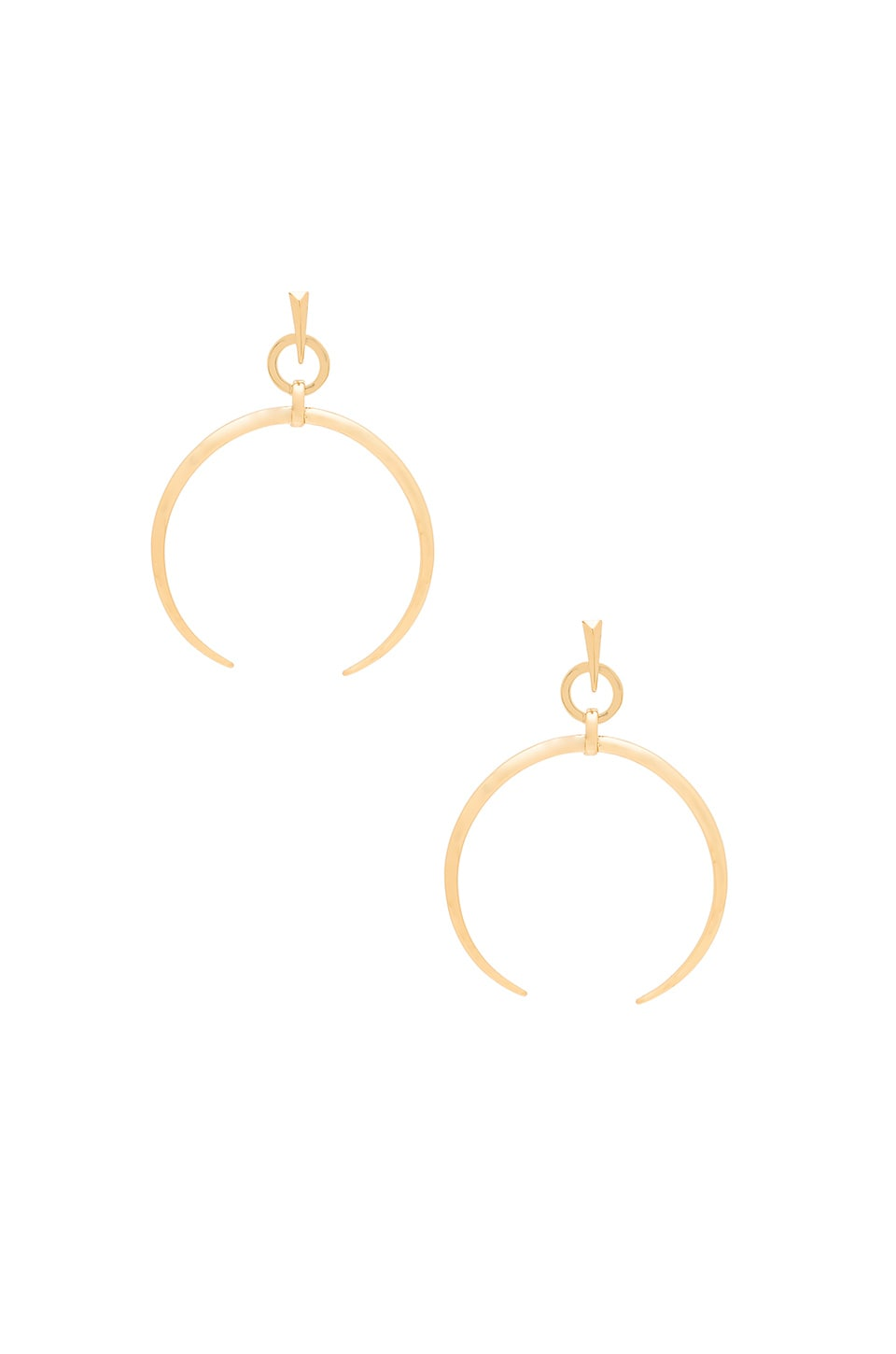Luv AJ Oversized Crescent Hoop Earrings in Antique Gold