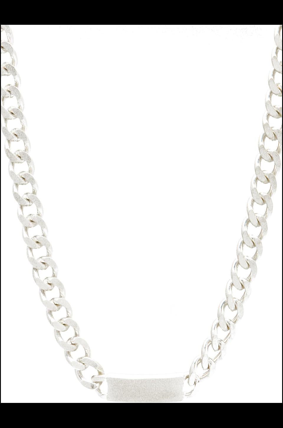 Luv AJ The ID Necklace in Brushed Silver