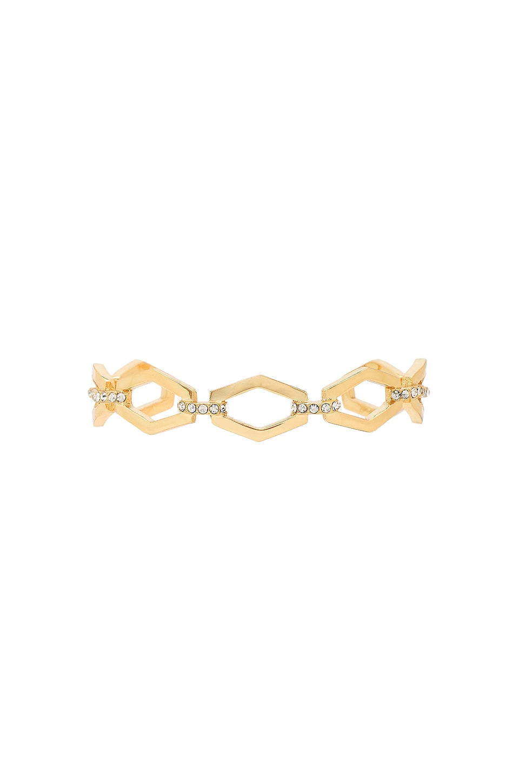 Luv AJ Chain Link Bangle Bracelet in Antique Gold