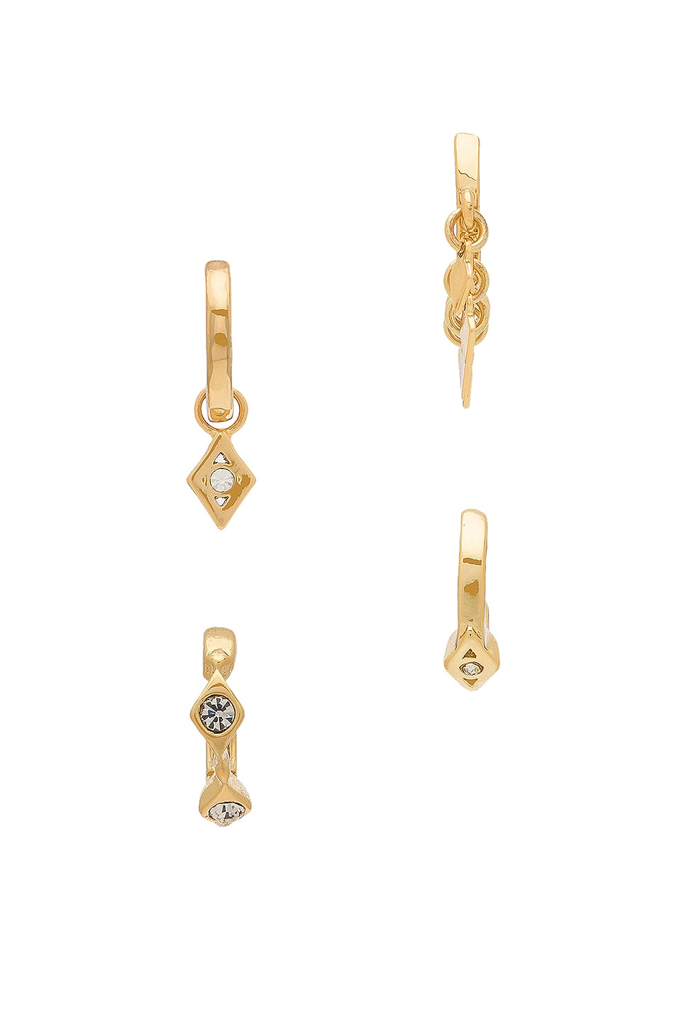 s vestiaire aj gold jewellery women earrings luv collective silver gilt