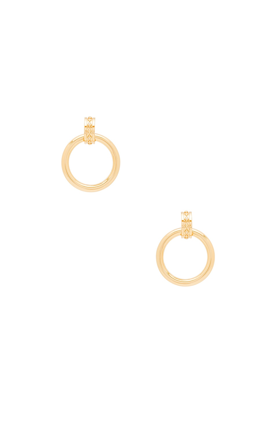 Luv AJ Evil Eye Statement Hoop Earrings in Antique Gold