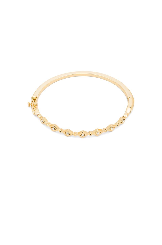 Luv AJ Evil Eye Eternity Bangle Bracelet in Antique Gold