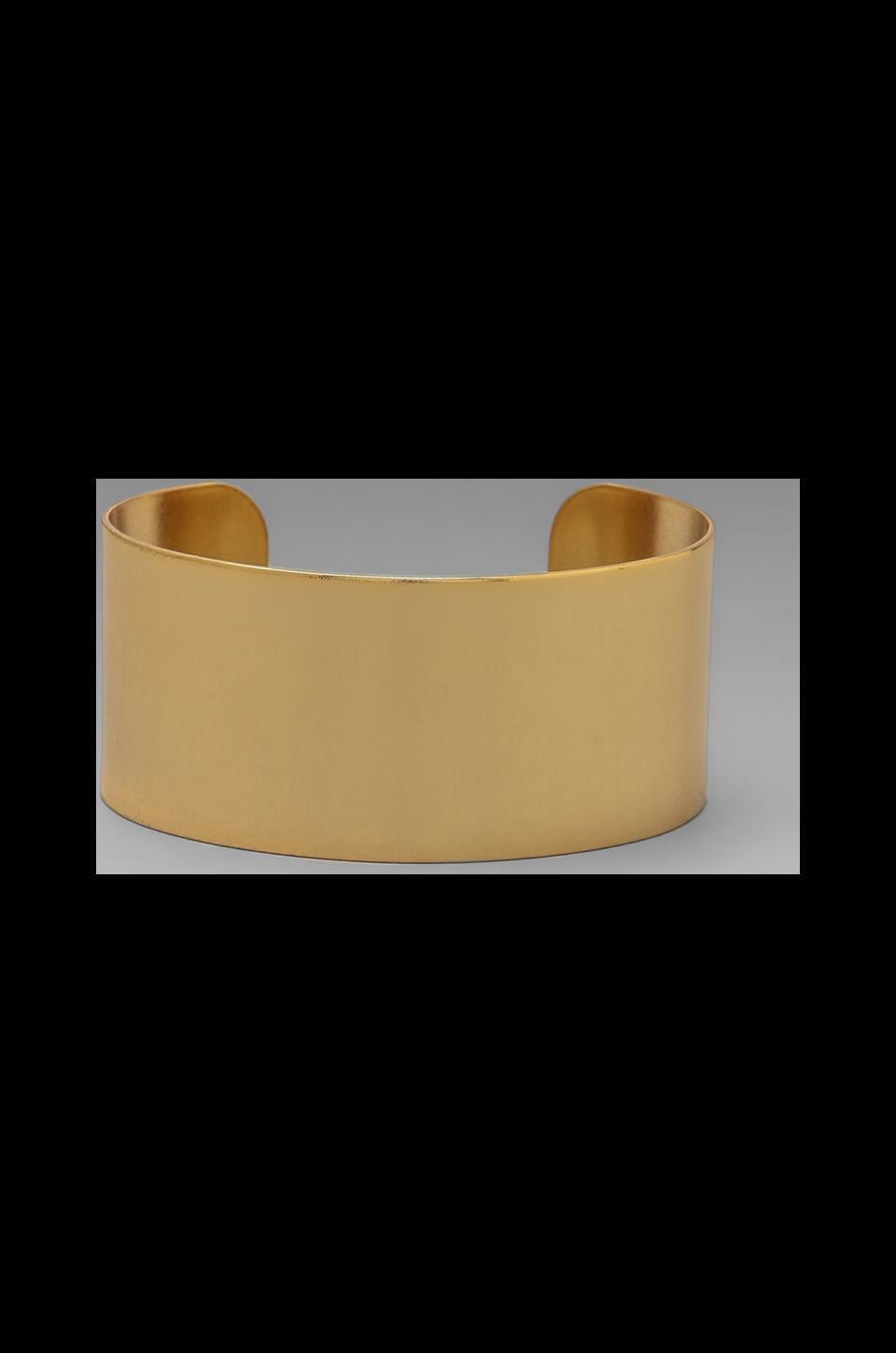 Luv AJ The Plain Cuff- Short in 24 Kt Gold