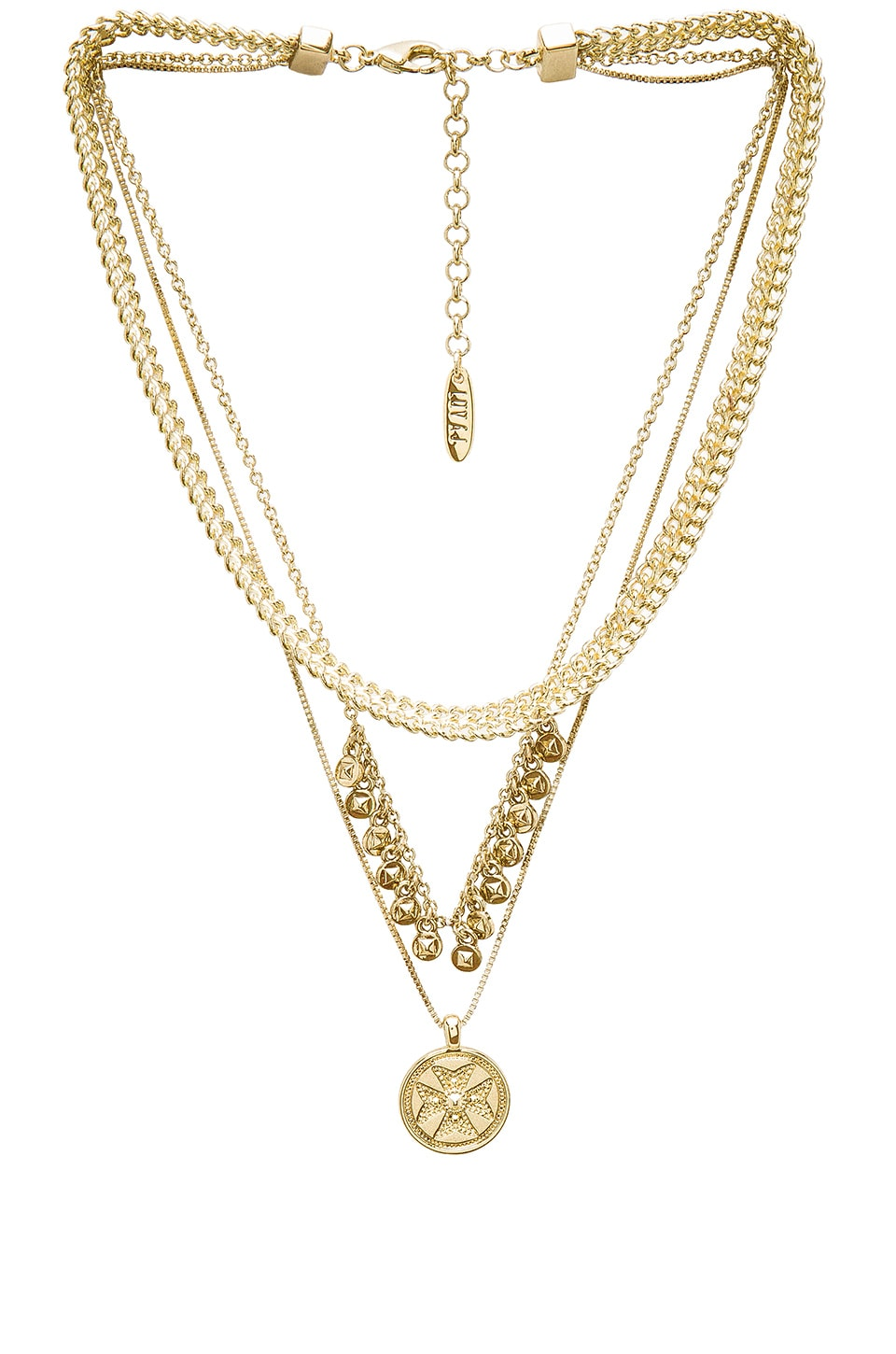 Luv AJ x SABO LUXE Noa Coin Charm Necklace in Antique Gold