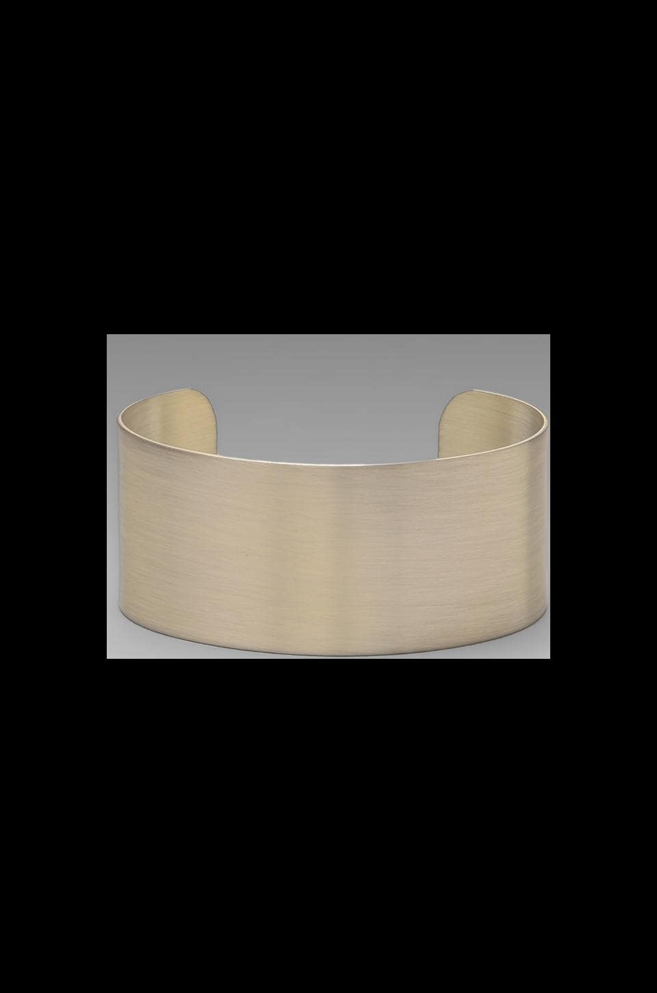 Luv AJ The Plain Cuff- Short in Brushed Silver