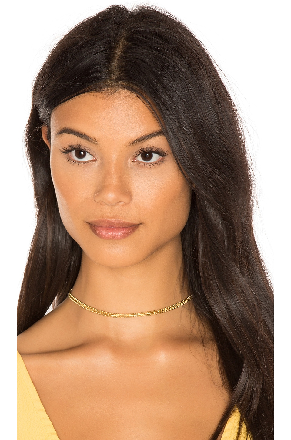 Luv AJ Amelie Choker in 14K Antique Gold