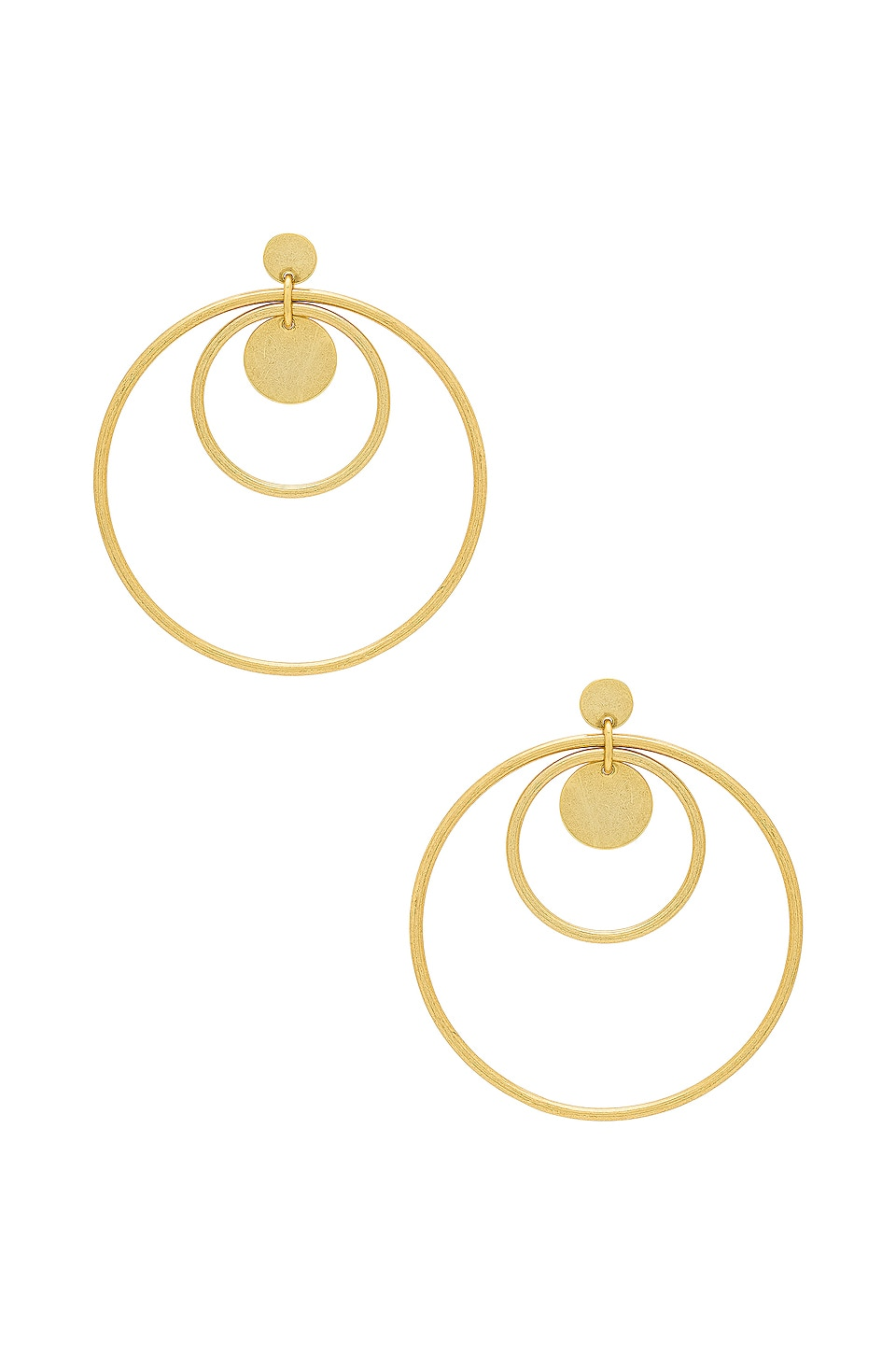 Luv AJ The Disco Fever Hoops in 14K Antique Gold