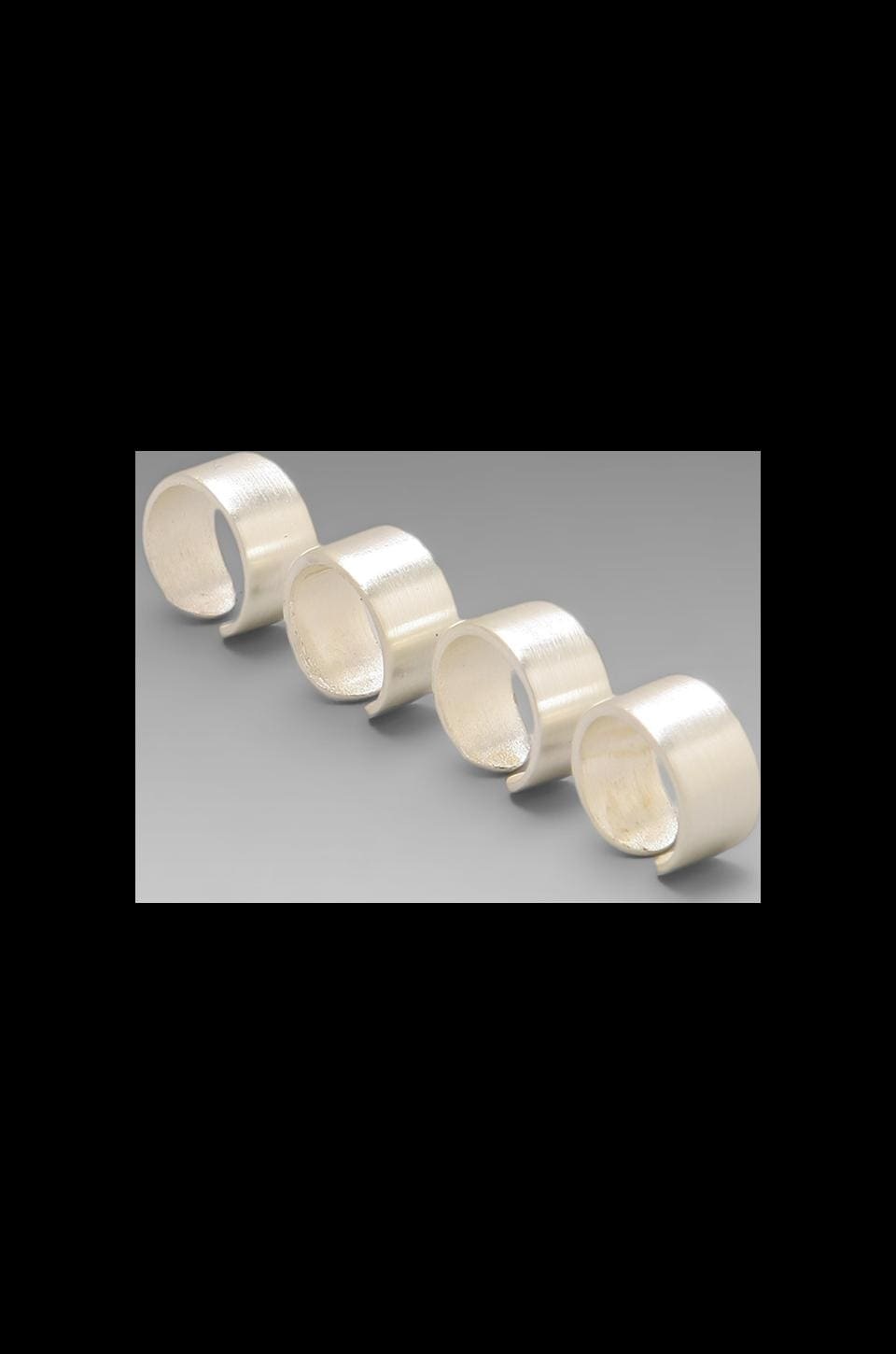 Luv AJ The Plain Ring Tall (Set of 4) in Brushed Silver