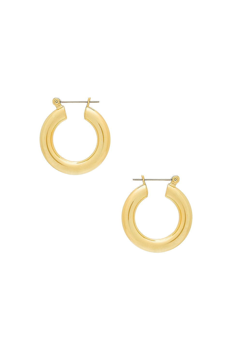 Luv AJ The Baby Amalfi Tube Hoops in 14K Antique Gold