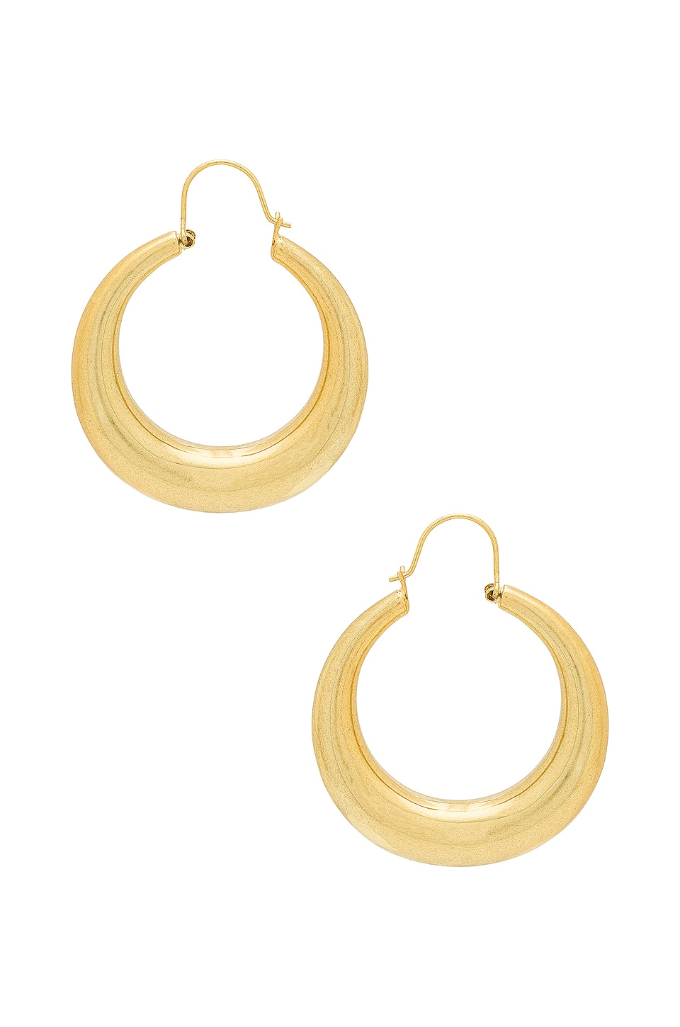 Luv AJ The Casimir Tube Hoops in Antique Gold