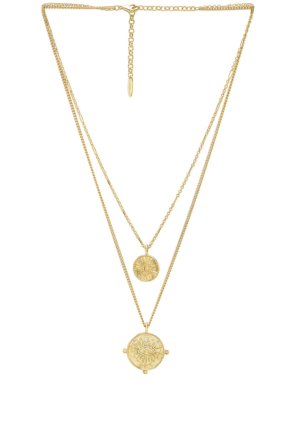 Luv AJ x REVOLVE The Double Coin Charm Necklace in Gold