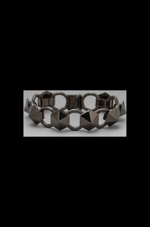 Luv AJ The Pyramid Stud Tennis Bracelet in Shiny Black