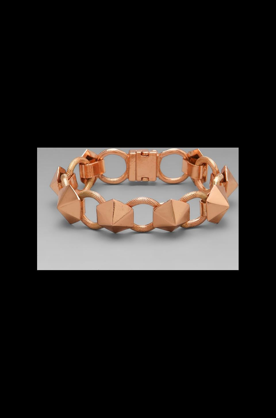 Luv AJ The Pyramid Stud Tennis Bracelet in Shiny Rose Gold