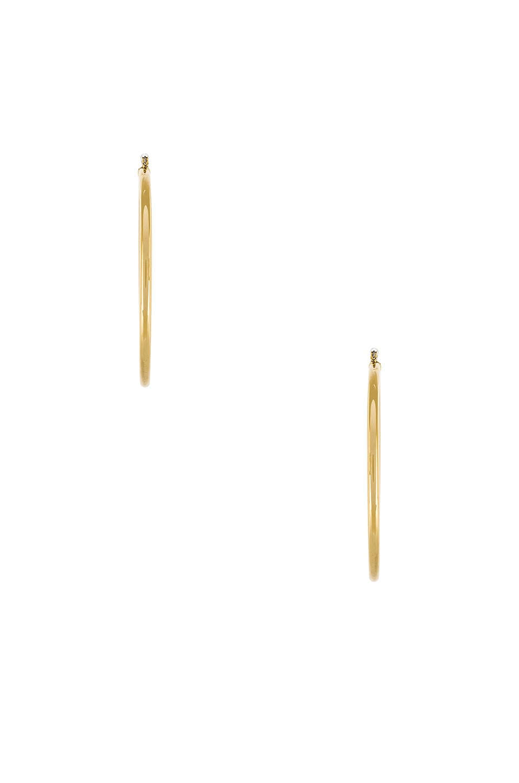 LUV AJ The Xl Amalfi Hoops in Metallic Gold