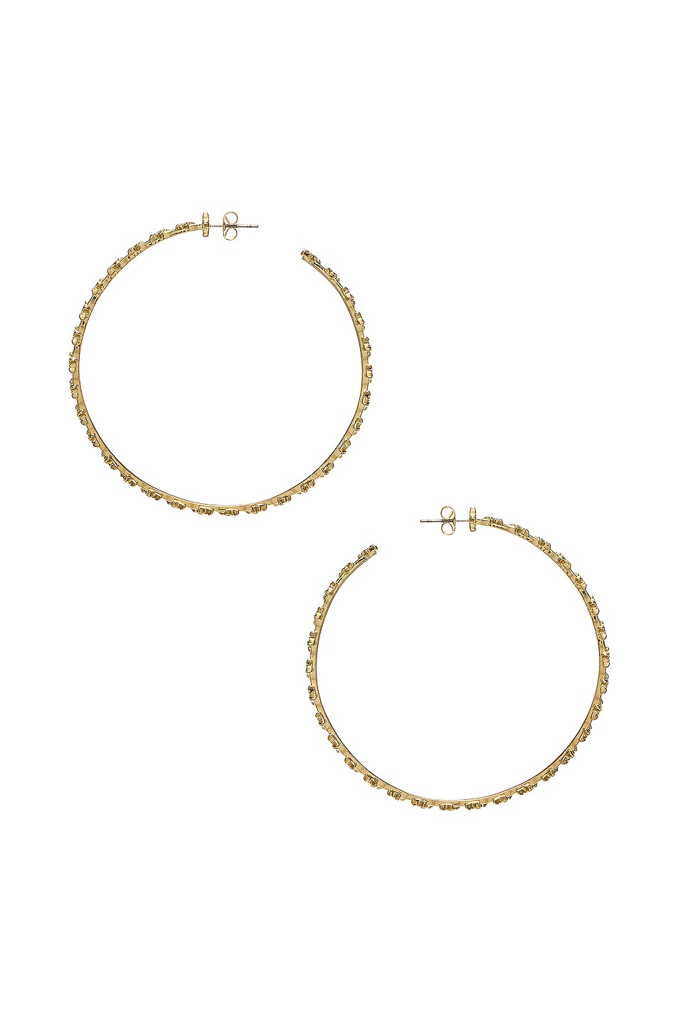Luv AJ The Pave Star Hoops in Gold