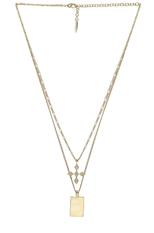 Luv AJ The Diamond Kite Dog Tag Necklace in Gold