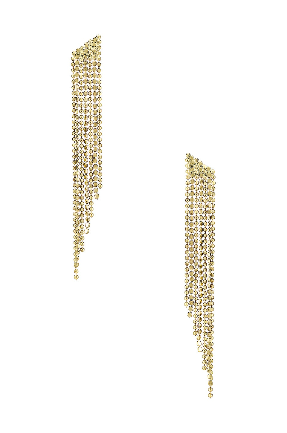 Luv AJ The Cascading Chain Earrings in Gold