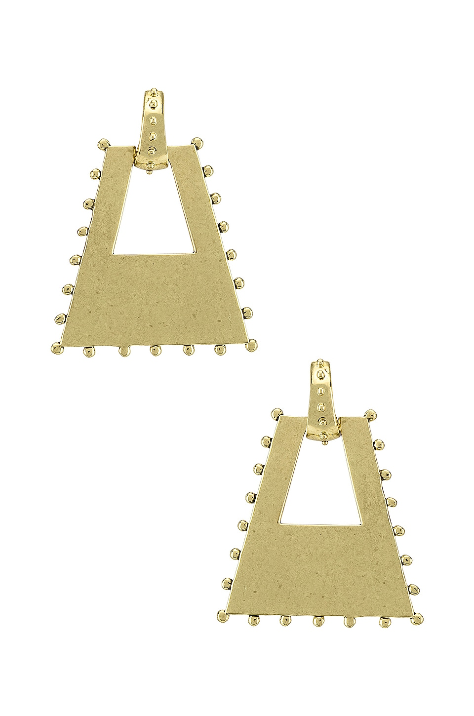 Luv AJ The Zeppelin Statement Hoop Earrings in Gold