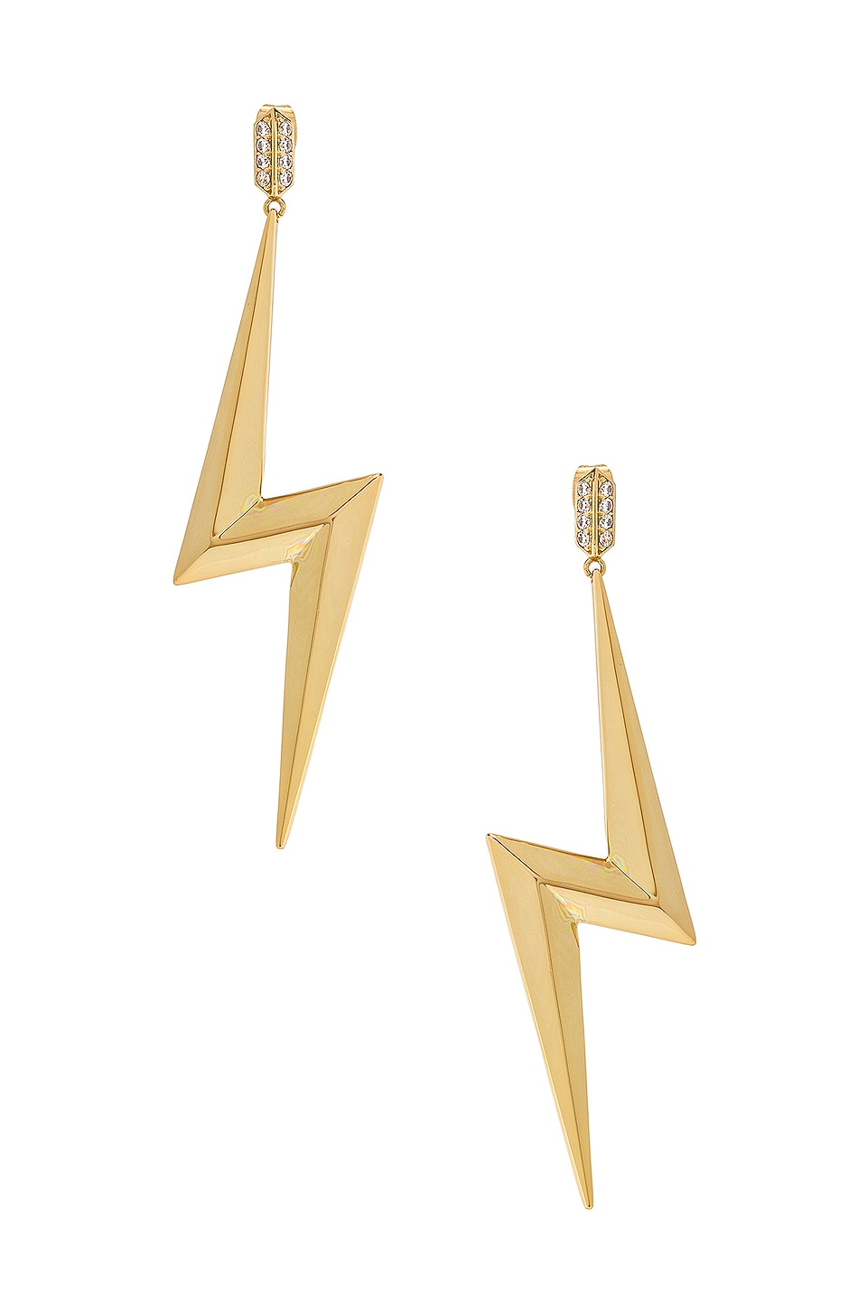 Luv AJ Bolt Statement Earrings in Gold