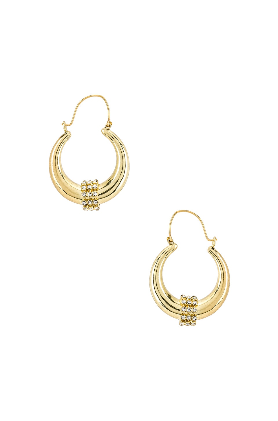 Luv AJ Pave Loop Tube Hoops in Gold
